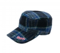 WOOL CHECK WORK CAP
